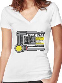 Miltipass Women's Fitted V-Neck T-Shirt