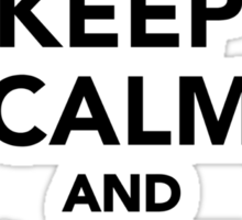 Keep calm and love Doves Sticker
