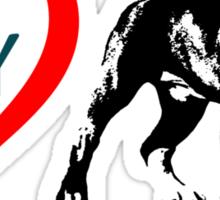 i love my pitbull Sticker