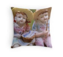 Nannie's Vintage Dolls Throw Pillow