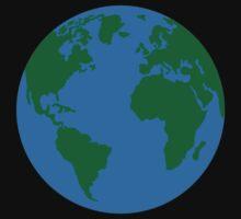 Globe Earth World map Baby Tee
