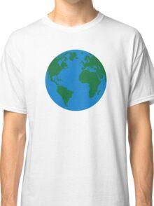 Globe Earth World map Classic T-Shirt