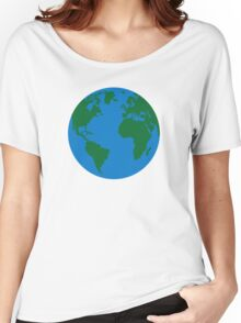 Globe Earth World map Women's Relaxed Fit T-Shirt