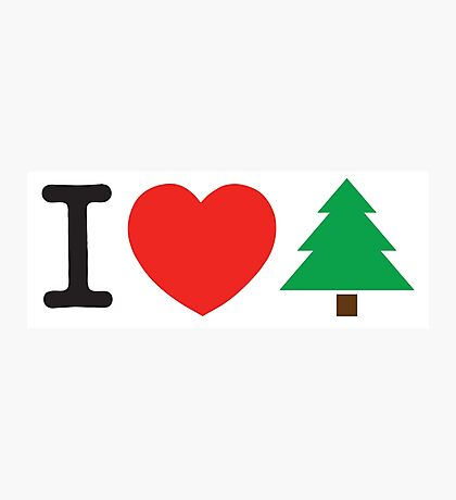 I Love Tree Photographic Print