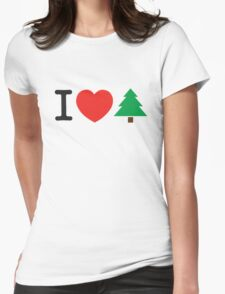 I Love Tree Womens Fitted T-Shirt