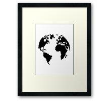 Earth world map Framed Print