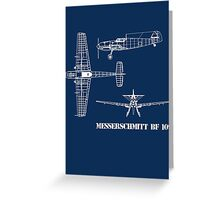 Messerschmitt BF 109 Greeting Card