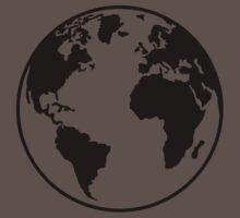 Globe Earth World One Piece - Short Sleeve