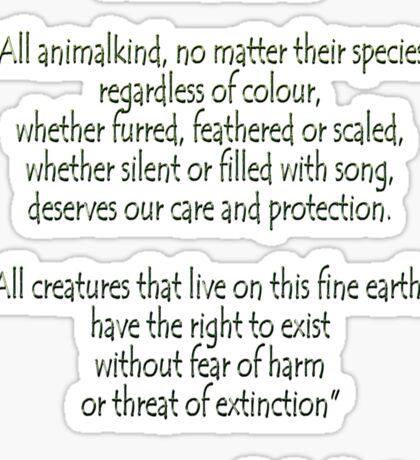 """Animal Decree"" Sticker"