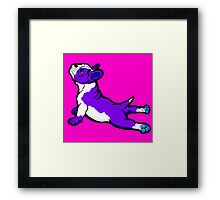Boston Bull Terrier Puppy Purple Framed Print