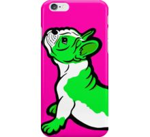 Boston Bull Terrier Puppy Green  iPhone Case/Skin