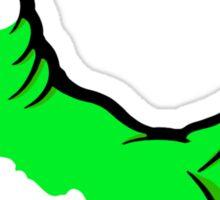 Boston Bull Terrier Puppy Green  Sticker
