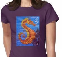 Mystical Horse of the Sea the Seahorse Womens Fitted T-Shirt
