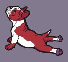 Boston Bull Terrier Puppy Red Kids Tee