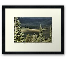 Salt River Pass Wyoming Framed Print