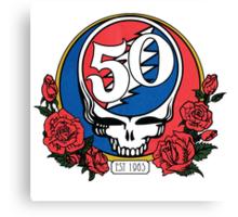Grateful Dead Head Skull 50 years Canvas Print