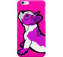 Boston Bull Terrier Puppy Shocking Pink iPhone Case/Skin