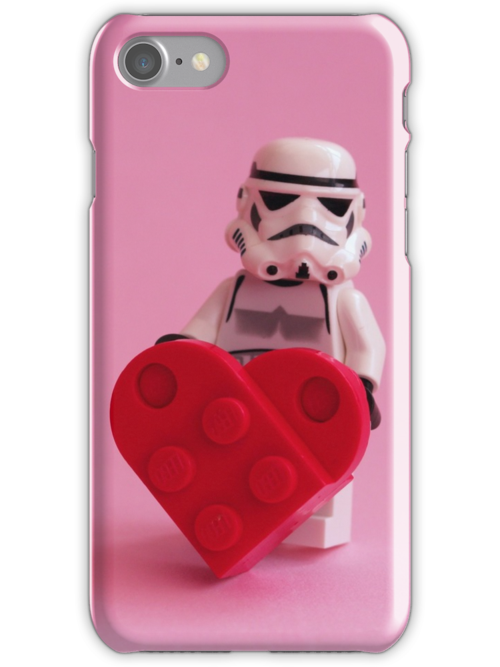 'Trooper's Heart - Valentine, Birthday, Mother's Day Card' iPhone Case/Skin by AdTheBad
