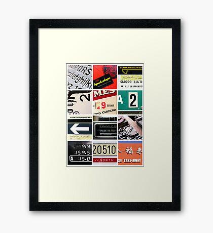Found Type 02 Framed Print