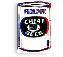 Fidlar Cheap Beer Canvas Print