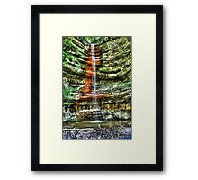 Waterfall Starved Rock in Spring Framed Print