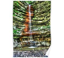 Waterfall Starved Rock in Spring Poster