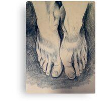 Study of Feet Canvas Print