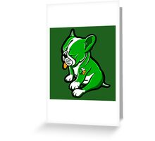 Irish Boston Bull Terrier Puppy  Greeting Card