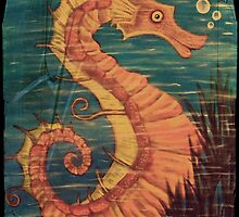 Mystical Horse of the Sea the Seahorse Vintage by Surrealfantasy