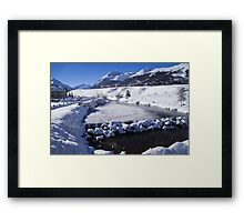 A view down the valley Framed Print