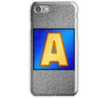 Retro Modern Alphabet - Letter A iPhone Case/Skin