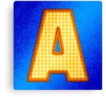 Retro Modern Alphabet - Letter A Canvas Print