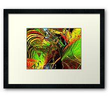 Three Layer Blender #2: Brainheart abstract (UF0362) Framed Print