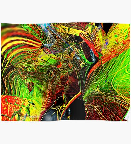 Three Layer Blender #2: Brainheart abstract (UF0362) Poster