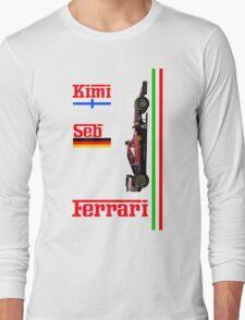 Ferrari 2015: Raikkonen, Vettel Long Sleeve T-Shirt