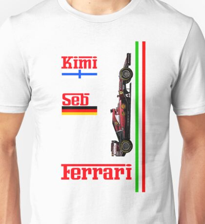 Ferrari 2015: Raikkonen, Vettel Unisex T-Shirt