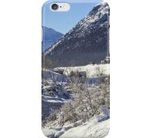A white landscape iPhone Case/Skin