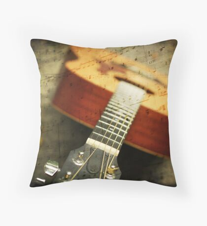 """Music is the art of thinking with sounds.""  Throw Pillow"