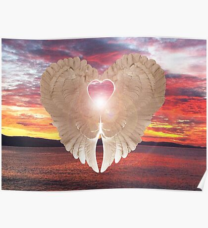 Angel Heart at sunset Poster