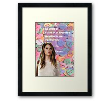 I'D kiss u Framed Print