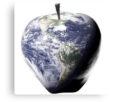 Big Apple, Earth, NYC, Healthy Planet, Nutrition, Fitness, IPhone Home Canvas Print