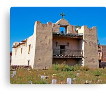 Zuni Pueblo Church built in the early 1600's Canvas Print
