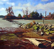 Shady Island - Steveston BC by Brad Collins