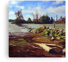 Shady Island - Steveston BC Canvas Print