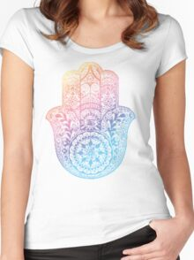 Rainbow Hamsa Women's Fitted Scoop T-Shirt