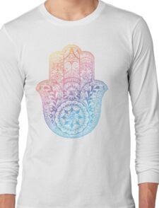 Rainbow Hamsa Long Sleeve T-Shirt