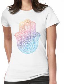 Rainbow Hamsa Womens Fitted T-Shirt