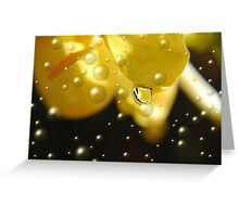 Yellow Bubbles Greeting Card
