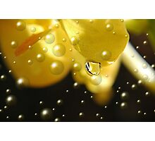 Yellow Bubbles Photographic Print