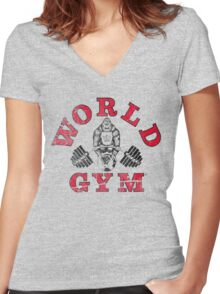 World Gym Women's Fitted V-Neck T-Shirt